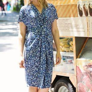 NWT MM Lafleur Tina Silk Tossed Petals Dress